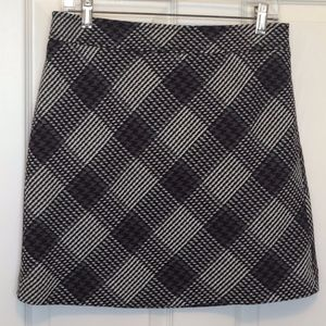Loft Purple/Gray/Black/White A-Line Skirt 4P
